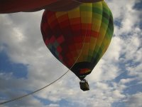 Balloon flight with food