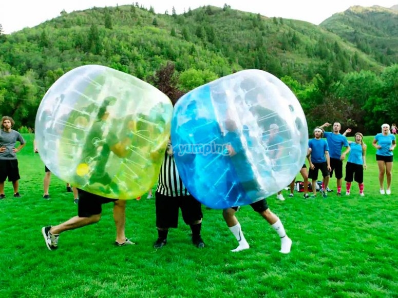 Zorbing game with friends