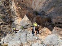 Vía ferrata de Cuevas de San Marcos en Antequera