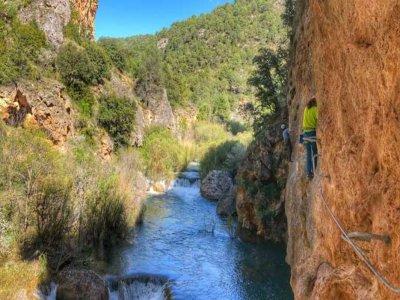 Villalba de la Sierra 的山沟和飞拉达