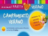 Campamento en Animal Party