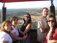 Balloon flight with lunch and cava in Guadarrama