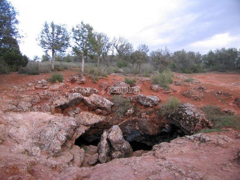 Speleology in the Montesinos cave