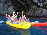 Salida familiar en kayak en Palm Mar