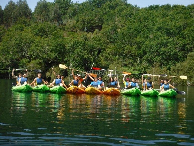 Oitavén河上的皮划艇之旅