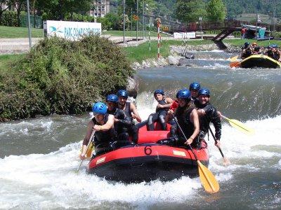Rafting en el canal olímpico de la Seu D'Urgell 1h