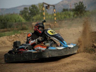 Mini GP en karting de tierra en María de Huerva