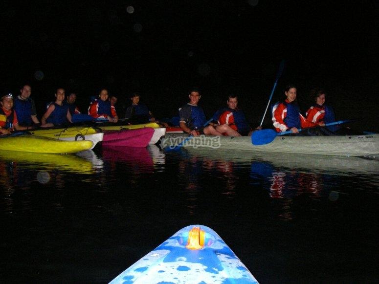 夜间皮划艇路线