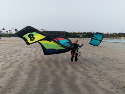 风筝冲浪入门课程El Puerto Sta。Mª3 pers