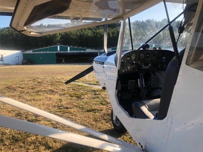 Preparing our plane flight over Mazaricos