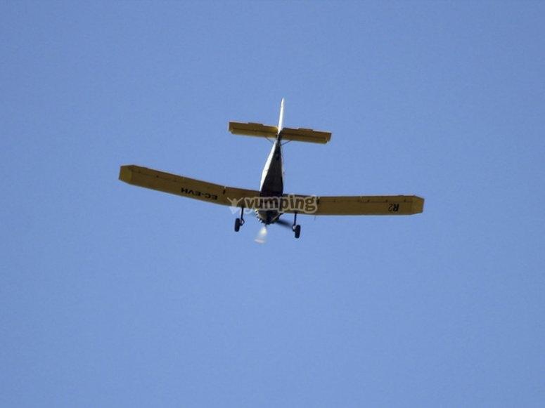 Flight by plane