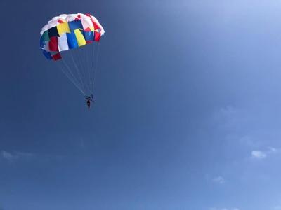 Vuelo en parasailing en playa de las Higuericas