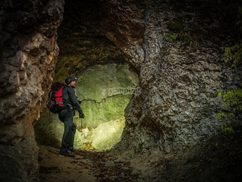 Enjoying a day of caving