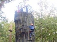 在充分活动攀岩