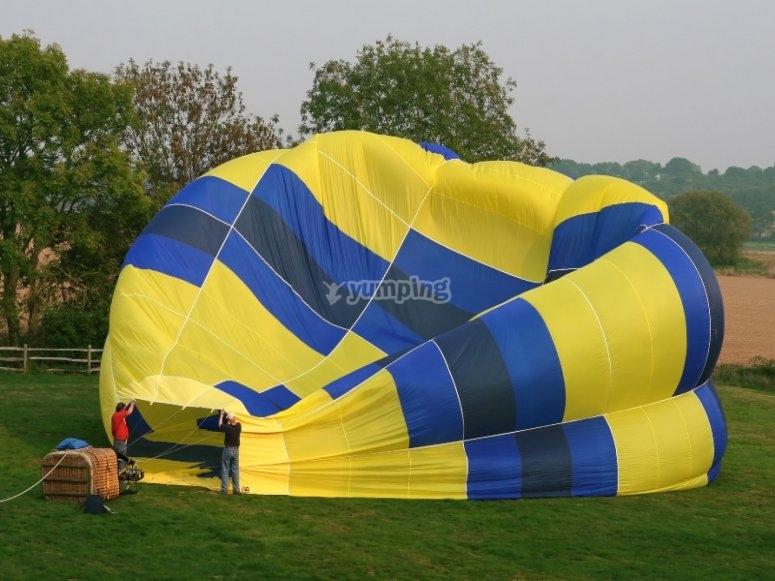 团体热气球飞越阿兰胡埃斯花园