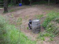Hide behind the barrel