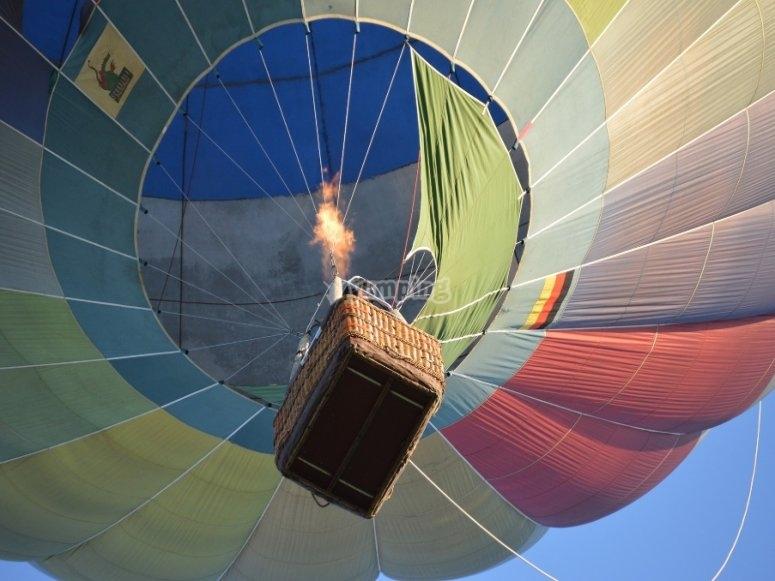 Hot air balloon ride through Segovia