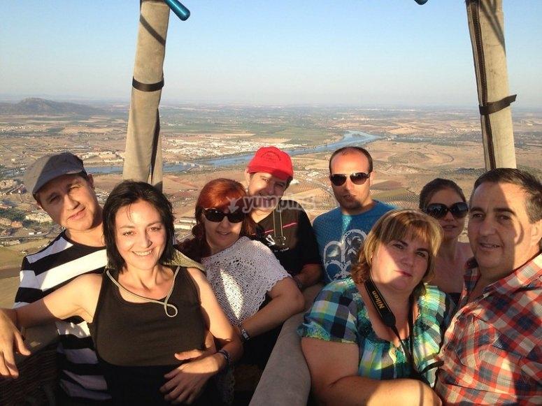 Group balloon ride in Castilla y León