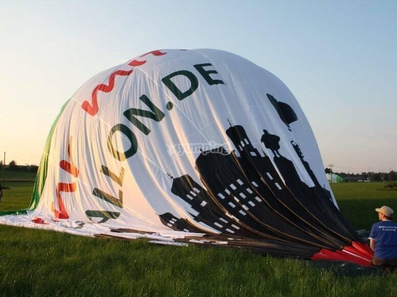 Group hot air balloon flight in Castilla y León