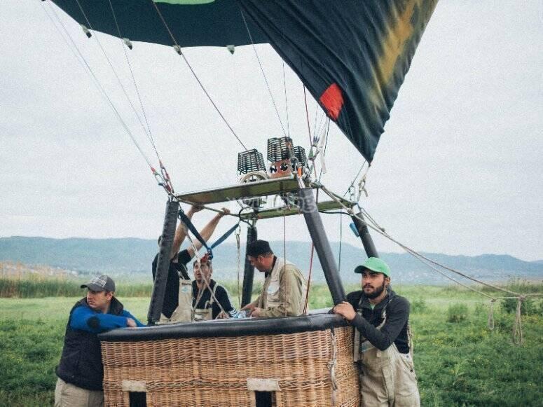 Hot air balloon flight through Segovia