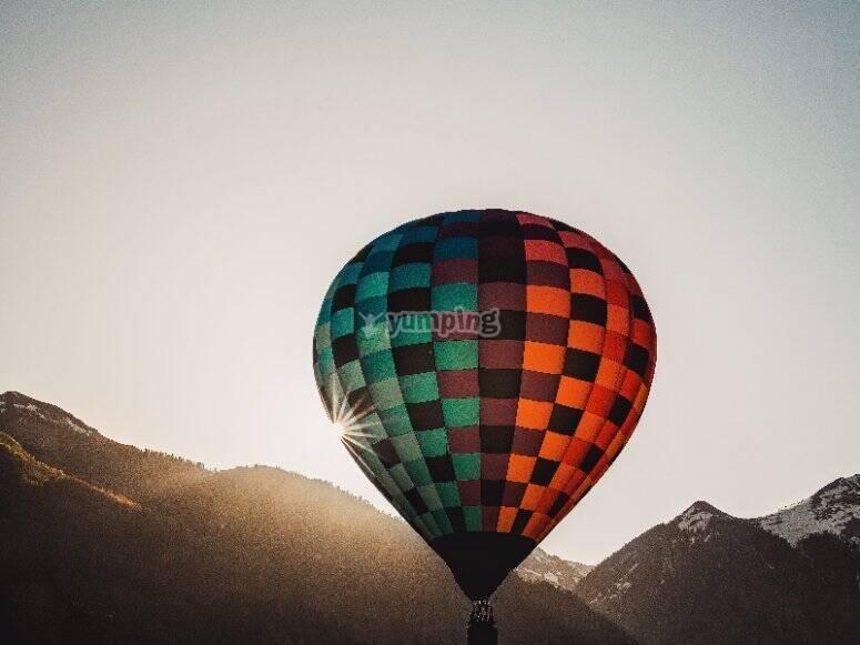 Balloon flight through Castilla y León for groups
