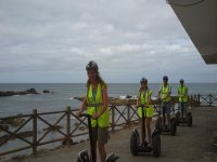 Segways al borde del mar
