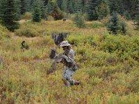 Soldado de airsoft camuflado