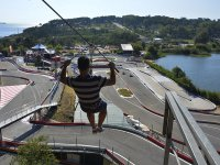 Sessione di zip line a 150 metri a Sanxenxo per 5