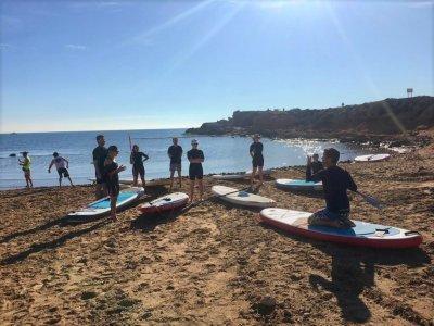 Corso di paddle surf nella spiaggia di La Mata 90 min