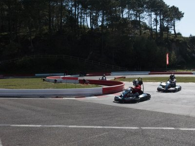 Sessione di kart a due posti all'aperto a Sanxenxo Children