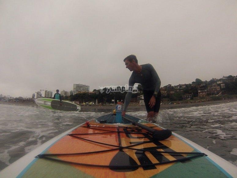 Paddle surf equipment rental in the Mediterranean
