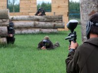 Aiming at the paintball player in Sant Pere.JPG