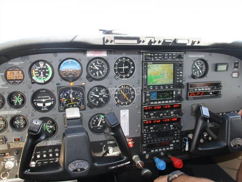 Flight in a plane as a copilot