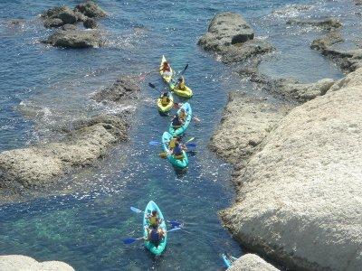 穿过Cala del Aceite Conil的皮划艇路线2小时
