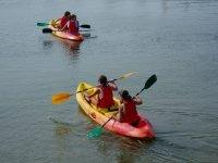 Guided kayak route in Valdelagrana Beach 90 min