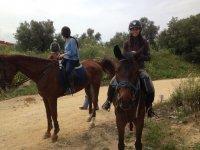 Ruta a caballo entre amigos