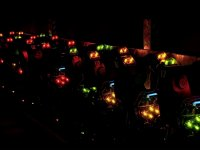 Chalecos con luces de colores