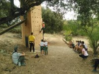 Climbing session in the camp