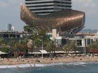 El puerto olimpico de Barcelona