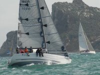 Sailboat within the competition