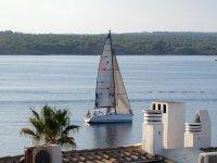 Sailboat off the coast
