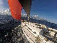 Sails deployed