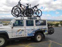 Vehículos de apoyo para largas rutas de BTT