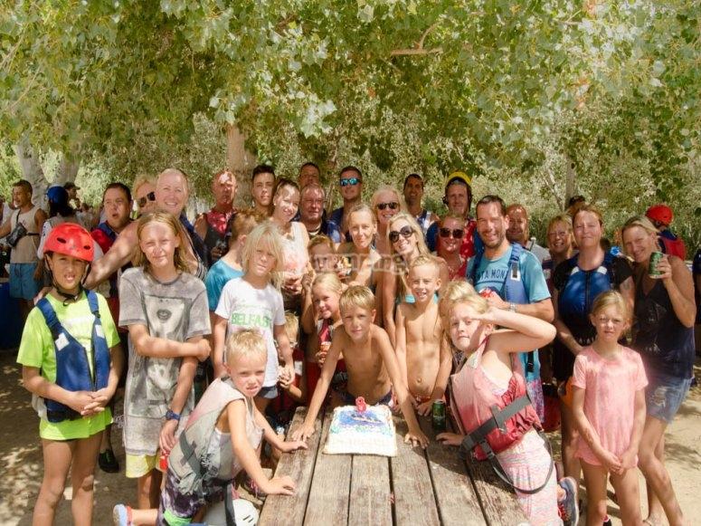 Nuestros aventureros en grupo