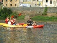 despedida en canoa