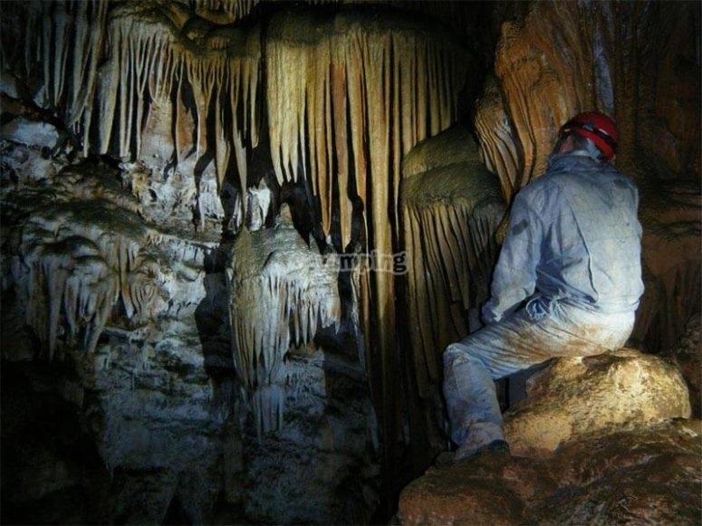 Karst formations in the Cueva de las Maravillas