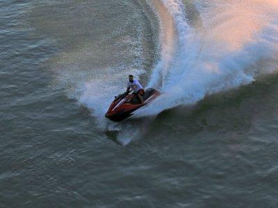 Ruta en moto de agua biplaza de Vigo a Islas Cíes
