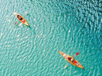皮划艇出租2或3人戴姆斯海滩1小时