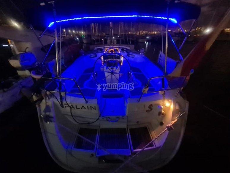 Nuestro velero listo para el party boat