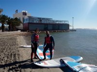 Couple in windsurfing class